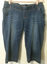 Motherhood Maternity Women Size Large Capri Blue Jeans