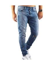 Jeans Uomo JACK & JONES JJIERIK JJICON Blu Denim con Strappi