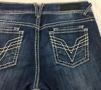 VIGOSS Fit Bootcut Distressed Jeans Womens 30 / 9