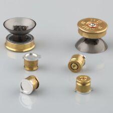 4 x Real Brass Bullet Buttons Mod Kit + 2 Thumbsticks Set for PS3/PS4 Controller