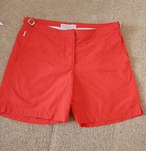 "Orlebar Brown ""Bulldog "" Red, Swim Shorts, Size 32"