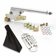 Chrome Emergency Parking Brake w Black Boot and Stainless Trim Ring Floor Mount
