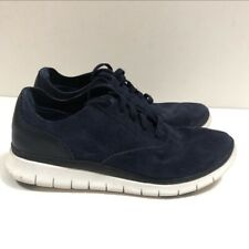 Vionic Sz 7.5 Taylor Suede Lace-Up Casual Sneakers Navy Blue White Orthotic QVC