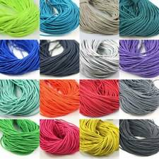 2.5mm ELASTICATED COLOURED CORD *25 COLOURS* ELASTIC CORDING FOR CRAFTS