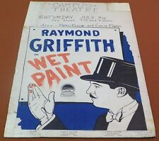 WET PAINT Vintage 1926 RAYMOND GRIFFITH Silent Film WINDOW CARD Movie Poster