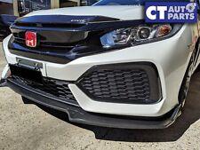 Carbon Style Front Bumper Lip Diffuser For 2016-2018 Honda FK Civic Hatch Sedan