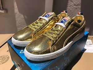 Puma/undefeated 24k Metallic Gold GAMETIME Clyde - Friends & Family Only - Sz 14