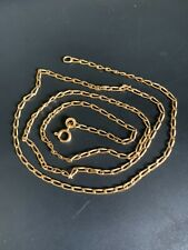 """Vintage 14K Yellow Gold Solid Chain Necklace 23"""" 6.5 Grams!! Very nice!"""