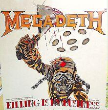 Original Megadeth Killing Is My Business Iron-On Transfer Metal