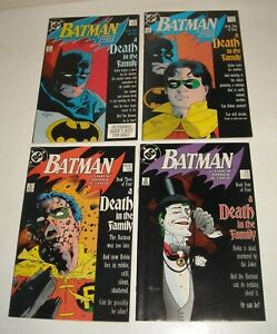 COMPLETE 4 ISSUE STORY - BATMAN # 426 - 429 DC COMICS 1988 DEATH in the FAMILY