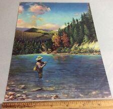 "Vintage Print ""A Sportsman's Paradise"" Fisherman Vintage"