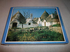 New ! Trulli in April Italy 1200 Piece Picture Puzzle Apulia Spring Mural House