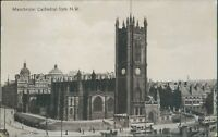 Postcard unposted Lancashire Manchester cathedral From NW