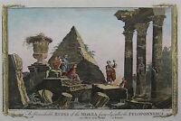 Ruinen in Attika - Morea - Griechenland - Original aus Baldwyn 1794