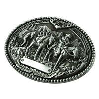 Vintage Hip Hop Gothic Cowboy Western Zinc Alloy Oval Belt Buckle for Men's Gift