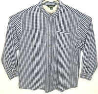 Outdoor Life Mens Shirt XXL Button Down Long Sleeve Blue Plaid 2XL