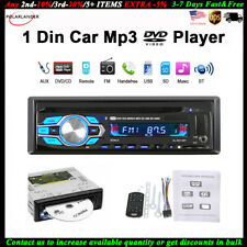 Single 1 Din Car DVD CD MP3 Player BT USB/AUX/SD Audio FM Radio In-dash Stereo