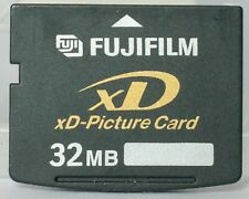 Fuji 32mb xd card, made in Japan by Toshiba, including case.