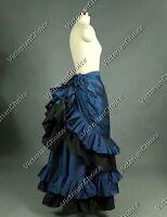 Victorian Edwardian Downton Abbey Pleated Bustle Skirt Steampunk Clothing K034