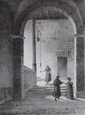 Escalier Auberge Saint Dizier CONSTANS LITHOGRAPHIE d apres ARNOUT Gravure 1823