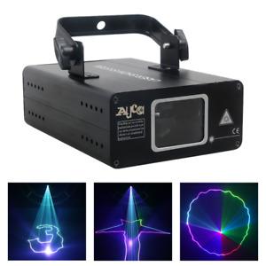 AUCD 500MW Portable RGB Scan Projector 8Ch DMX DJ Home Party Club Laser Lighting