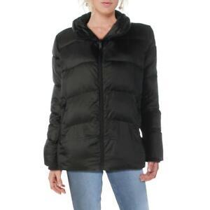 Sam Edelman Womens Black Winter Mock Neck Puffer Jacket Outerwear S BHFO 7909