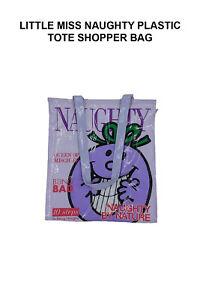 Little Miss Naughty Plastic Tote Shopper Bag