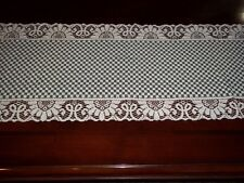 LACE TABLE RUNNER IVORY CREME GREEN CHECKERED 72 X 14  CTRGC840