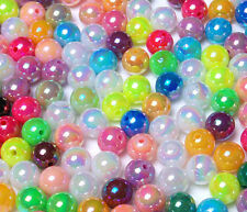 T023 Opaque Iridescent Colour Round Beads Crafts Jewellery Findings 12mm 30pcs