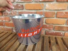 RED STRIPE BEER Light Metal Beer Wine Chill Ice Bucket IRIE Jamaica Jamaican Bar