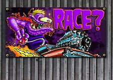 Weirdo Race? Rat Fink Style vinyl garage or shop banner Ed Roth Style
