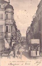 RAREMENT Foto AK 1903@DIJON Coin du Miroir@tram avec de la publicité Straßenbahn