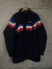 37cdadb1b4 Adidas Vintage Hiver Gilet Rétro Veste Taille L/XL Logo | Bleu marine à  rayures rose