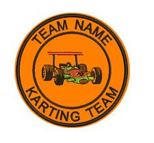 9 cm FEUTRE brodé Sports Club ou équipe badge Votre Propre Texte karting