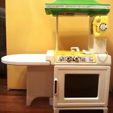 VINTAGE 1989 LITTLE TIKES PARTY KITCHEN STOVE SINK with Phone - Child Size, RARE