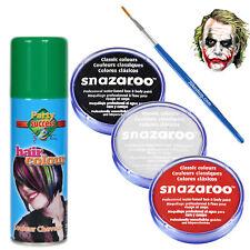 Joker Heath Ledger Halloween Fancy Dress Makeup Kit Clown Face-paint Hairspray