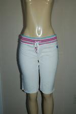 NWOT Women's Self Esteem White Drawstring Cutoff Shorts Size Medium Nice LQQK!