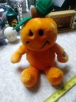 Vintage Halloween DanDee pumpkin Man jack-o'-lantern jol Vtg Retro Plushie Soft