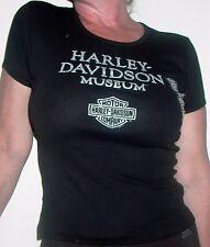 HARLEY-DAVIDSON MOTORCYCLES MUSEUM  WOMEN'S LARGE BLACK GLITTER T SHIRT, NEW!