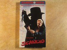 SCHIZOID KLAUS KINSKI VHS THRILLER RARE! 1ST EDITION RELEASE 1988 CANNON