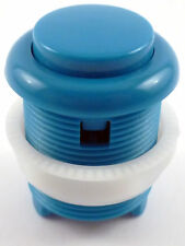 28mm Round Convex Curved Arcade Push Button & Microswitch (Blue) - MAME, JAMMA