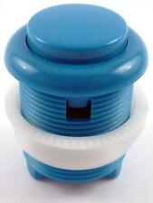 28mm rond convexe courbé arcade bouton poussoir & microswitch (bleu) - Mame, jamma