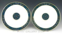 """Royal Doulton England H5018 CARLYLE 10-5/8"""" DINNER PLATES Set of 2 Unused"""