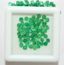 1.91 Cts Natural Emerald Round Cut 2.25 mm Lot 42 Pcs Untreated Loose Gemstones