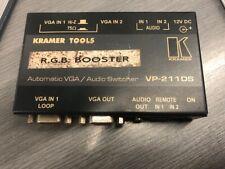 Kramer Tools VP-211DS Automatic VGA Video / Audio Switcher USED no PSU