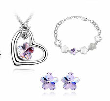 Rhodium Plated Crystal Collar Costume Necklaces & Pendants