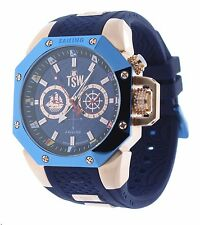 Technosport TS-100-SAIL7 Mens Watch Rose Gold/Dark Blue Sailing Swiss Day/Date