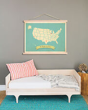 Kids USA Map Wall Art, Children Decor, Personalized Wall Map Print, My Roots USA