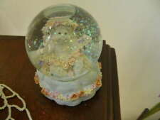 2722) Dreamsicles Westland Snowglobe Cherub Floral Ring Around Base No D650_
