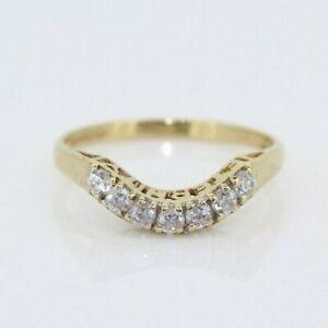 14ct Yellow Gold 0.20ct Eternity Wishbone Ring (Size O, US 7)